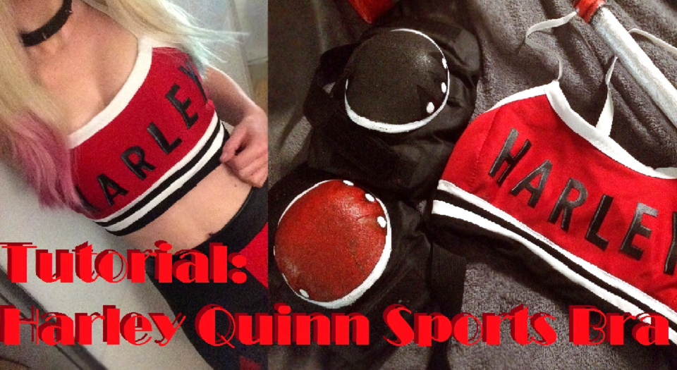 DIY Harley Quinn Sports Bra