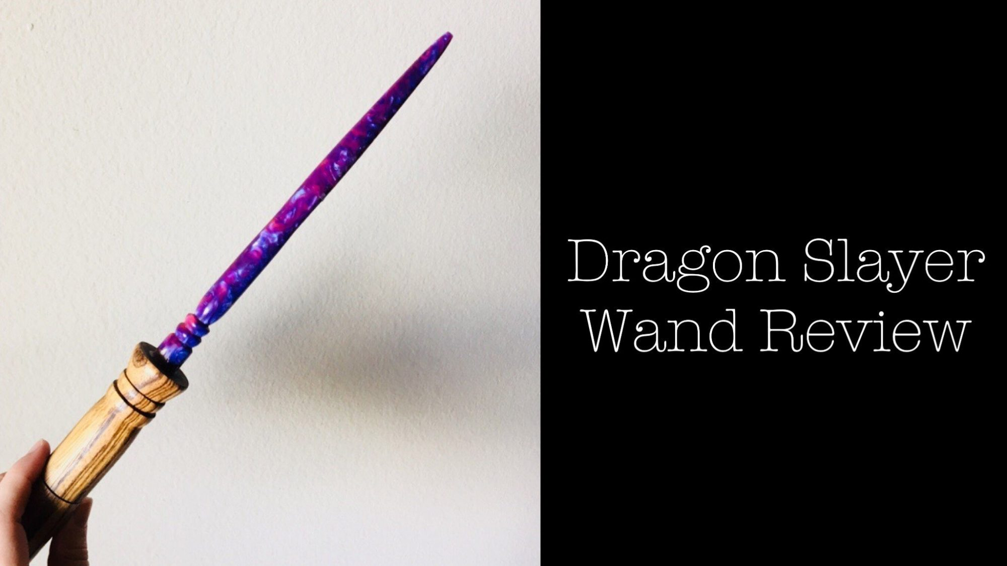 Hrothgar's Hoard Dragon Slayer Wand Review- Harry Potter Wand