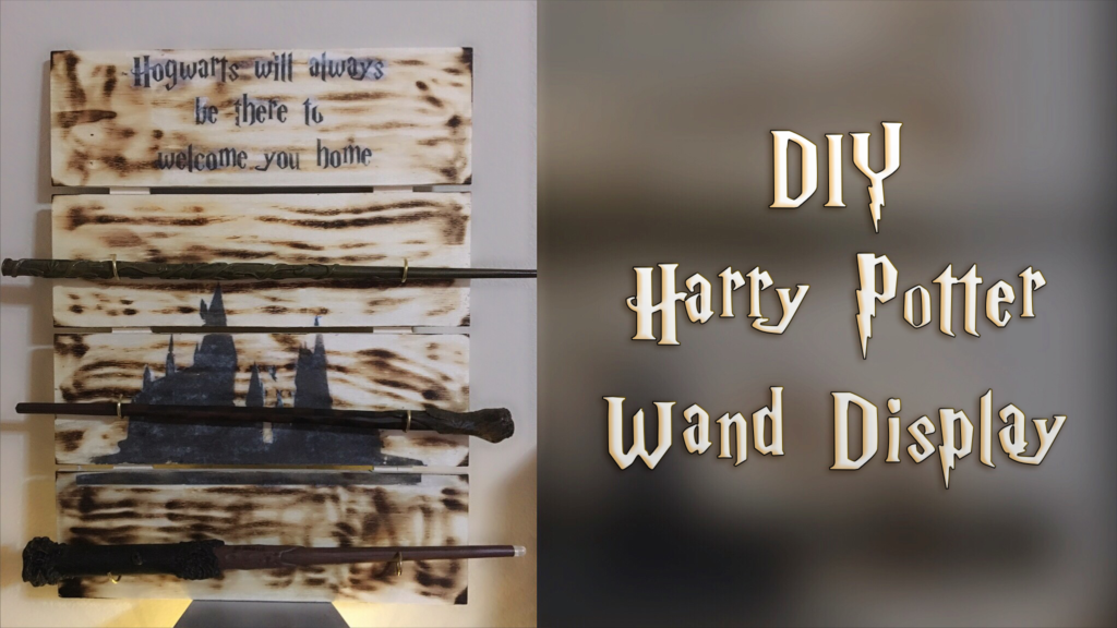 harry potter diy wand display