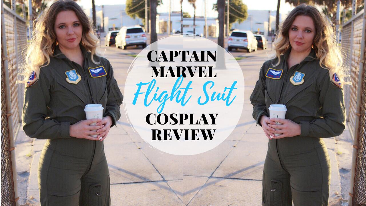 Captain Marvel pilot suit costume