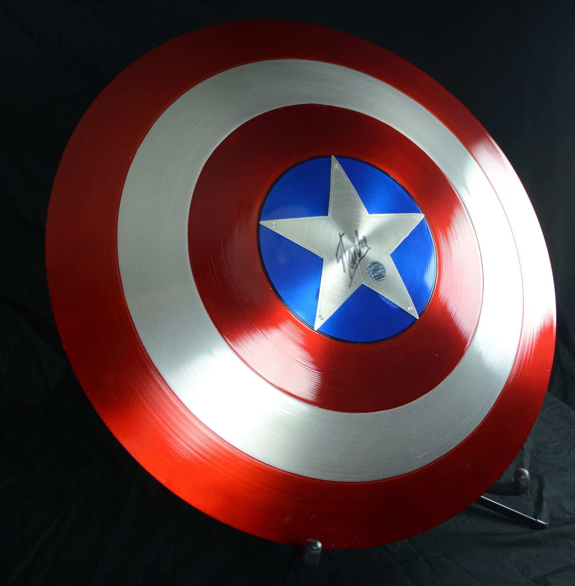Signed Stan Lee Captain America shield