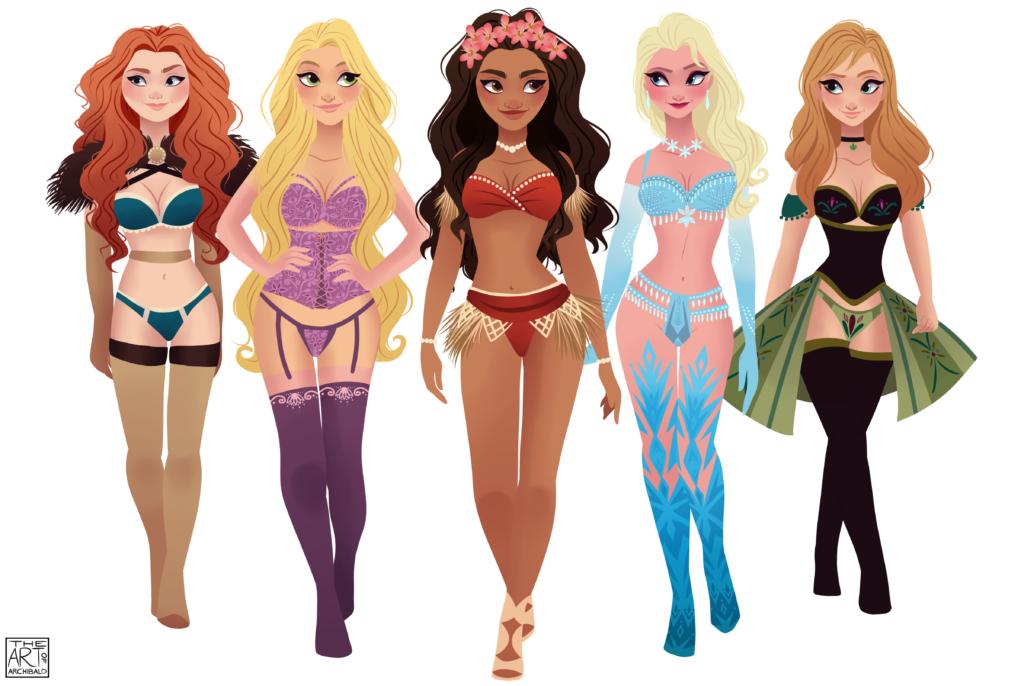 Archibald-Victorias-Secret-disney-princesses