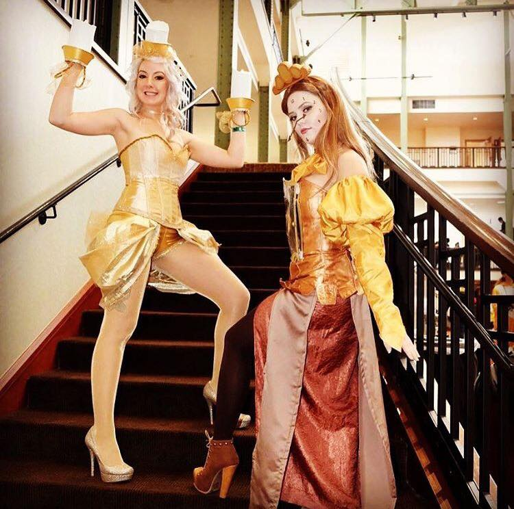 DIY Lumiere and Cogsworth Cosplays
