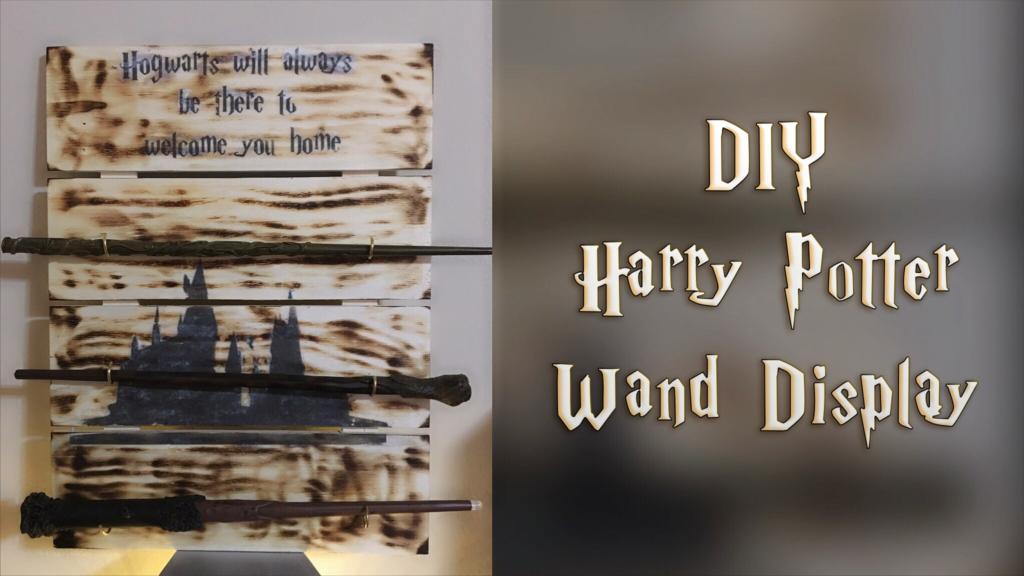 harry potter diy wand display